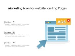 Marketing Icon For Website Landing Pages