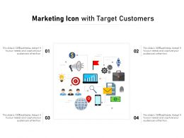 Marketing Icon With Target Customers