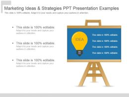 Marketing Ideas And Strategies Ppt Presentation Examples