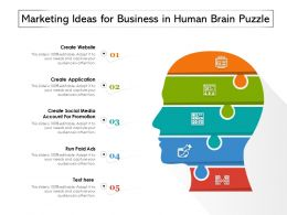 Marketing Ideas For Business In Human Brain Puzzle