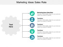 Marketing Ideas Sales Rate Ppt Powerpoint Presentation Styles Model Cpb
