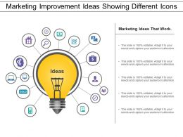 Marketing Improvement Ideas Showing Different Icons