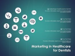 Marketing In Healthcare For Dentists Ppt Powerpoint Presentation Outline Icons