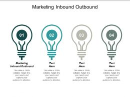 Marketing Inbound Outbound Ppt Powerpoint Presentation Outline Ideas Cpb