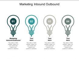 Marketing Inbound Outbound Ppt Powerpoint Presentation Outline Ideas Cpb