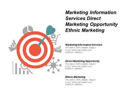 Marketing Information Services Direct Marketing Opportunity Ethnic Marketing Cpb