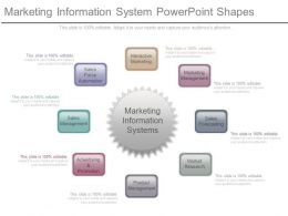 Marketing Information System Powerpoint Shapes