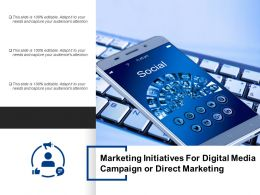 Marketing Initiatives For Digital Media Campaign Or Direct Marketing