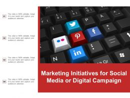 Marketing Initiatives For Social Media Or Digital Campaign