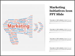Marketing Initiatives Icon Ppt Slide