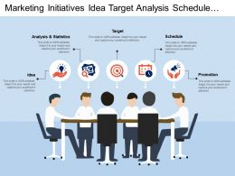 Marketing Initiatives Idea Target Analysis Schedule Promotion
