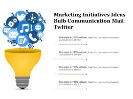 Marketing Initiatives Ideas Bulb Communication Mail Twitter