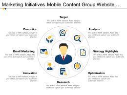 Marketing Initiatives Mobile Content Group Website Strategy Ppt