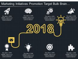 Marketing Initiatives Promotion Target Bulb Brain Rocket