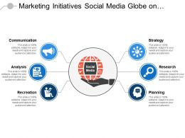 Marketing Initiatives Social Media Globe On Hand