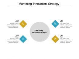 Marketing Innovation Strategy Ppt Powerpoint Presentation Pictures Design Cpb