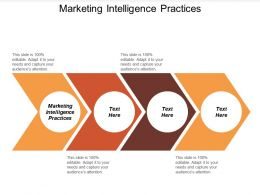 Marketing Intelligence Practices Ppt Powerpoint Presentation Ideas Icons Cpb