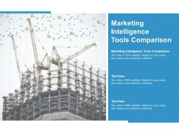 Marketing Intelligence Tools Comparison Ppt Powerpoint Presentation Slides Graphic Tips Cpb