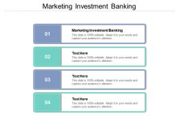 Marketing Investment Banking Ppt Powerpoint Presentation File Demonstration Cpb