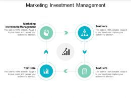 Marketing Investment Management Ppt Powerpoint Presentation Outline Clipart Images Cpb