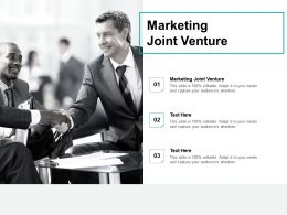 Marketing Joint Venture Ppt Powerpoint Presentation Slides Visuals Cpb