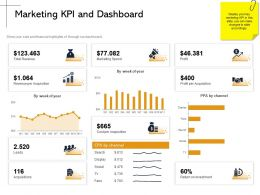 Marketing KPI And Dashboard Leads Ppt Powerpoint Presentation Portfolio Deck