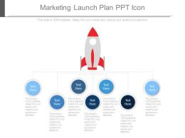 Marketing Launch Plan Ppt Icon