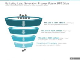 Marketing Lead Generation Process Funnel Ppt Slide