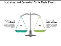 Marketing Lead Generation Social Media Event Marketing Online Marketing Cpb