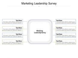 Marketing Leadership Survey Ppt Powerpoint Presentation Layouts Brochure Cpb