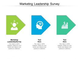 Marketing Leadership Survey Ppt Powerpoint Presentation Slides Objects Cpb