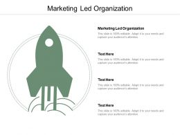 Marketing Led Organization Ppt Powerpoint Presentation Summary Master Slide Cpb