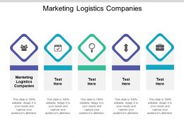 Marketing Logistics Companies Ppt Powerpoint Presentation Portfolio Images Cpb