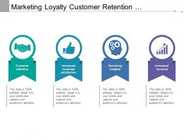 Marketing Loyalty Customer Retention And Satisfaction And Increased Revenue