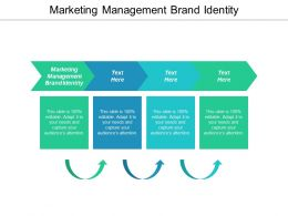 Marketing Management Brand Identity Ppt Powerpoint Presentation Gallery Design Ideas Cpb