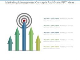 Marketing Management Concepts And Goals Ppt Ideas