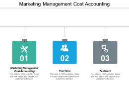 Marketing Management Cost Accounting Ppt Powerpoint Presentation Styles Graphics Cpb