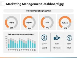 Marketing Management Dashboard Ppt Powerpoint Presentation File Graphics Pictures