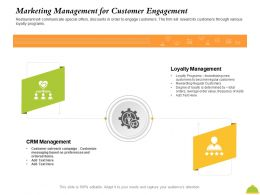 Marketing Management For Customer Engagement Outreach Ppt Powerpoint Presentation File Clipart