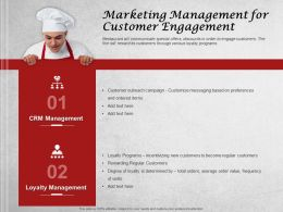 Marketing Management For Customer Engagement Ppt Presentation Tips