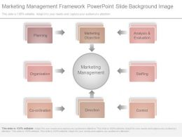Marketing Management Framework Powerpoint Slide Background Image