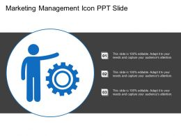 Marketing Management Icon Ppt Slide