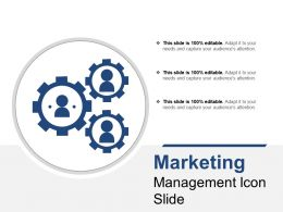 Marketing Management Icon Slide