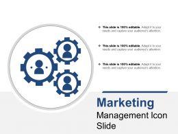 Marketing Management Icon Slide
