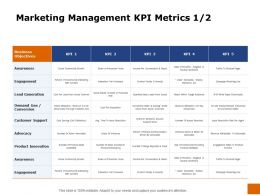 Marketing Management Kpi Metrics Conversion Ppt Powerpoint Presentation Slides