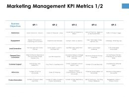 Marketing Management KPI Metrics Process Ppt Powerpoint Presentation Styles Structure