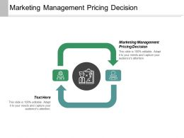 Marketing Management Pricing Decision Ppt Powerpoint Presentation Inspiration Elements Cpb