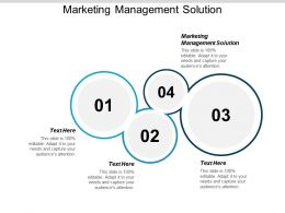 Marketing Management Solution Ppt Powerpoint Presentation Icon Visuals Cpb