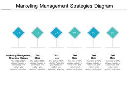 Marketing Management Strategies Diagram Ppt Powerpoint Presentation Slides Cpb