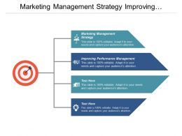Marketing Management Strategy Improving Performance Management Cpb